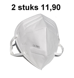 2x Beschermend mondkapje KN95 / FFP2 mondmasker (per twee stuks)