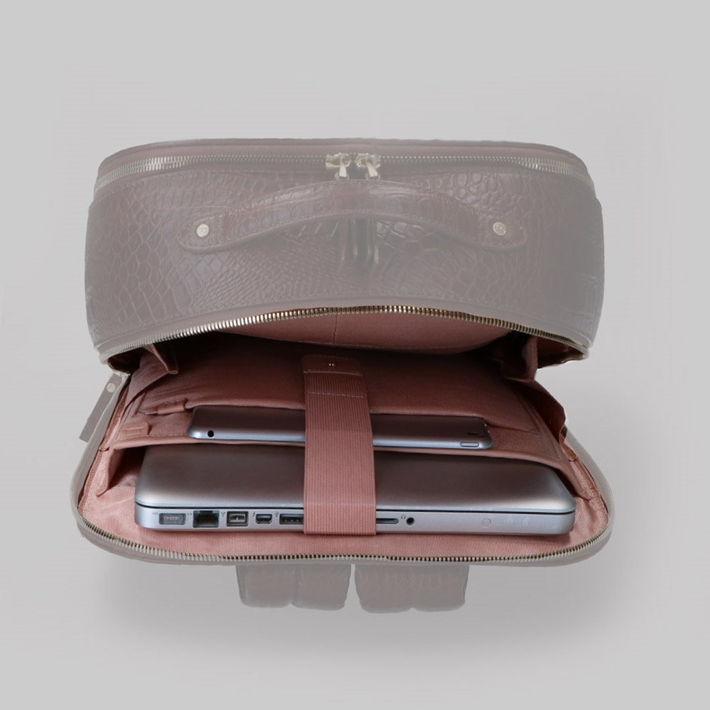 FMME. FMME. Laptop rugtas 13 inch Claire - Rood Grain Leer