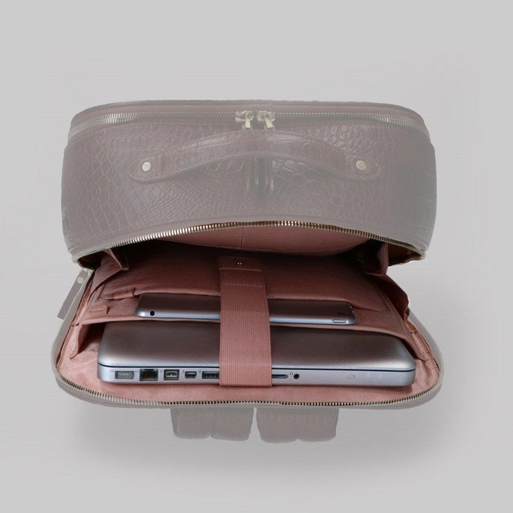 FMME. FMME. Laptop rugtas 15.6-inch Claire, Zwart Grain Leer