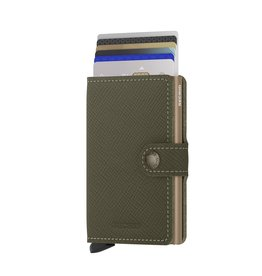 Secrid Secrid Mini Wallet Saffiano Olive - pasjeshouder portemonnee
