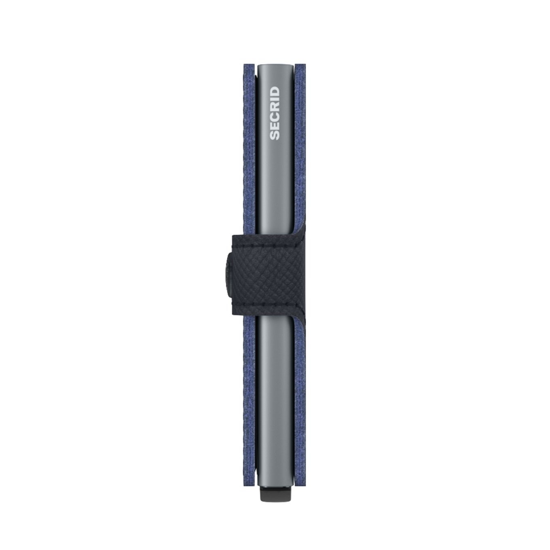 Secrid Secrid Mini Wallet Saffiano Navy - pasjeshouder portemonnee