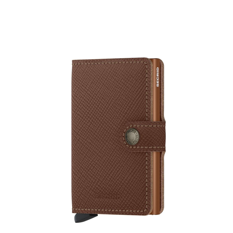 Secrid Secrid Mini Wallet Saffiano Caramel - pasjeshouder portemonnee