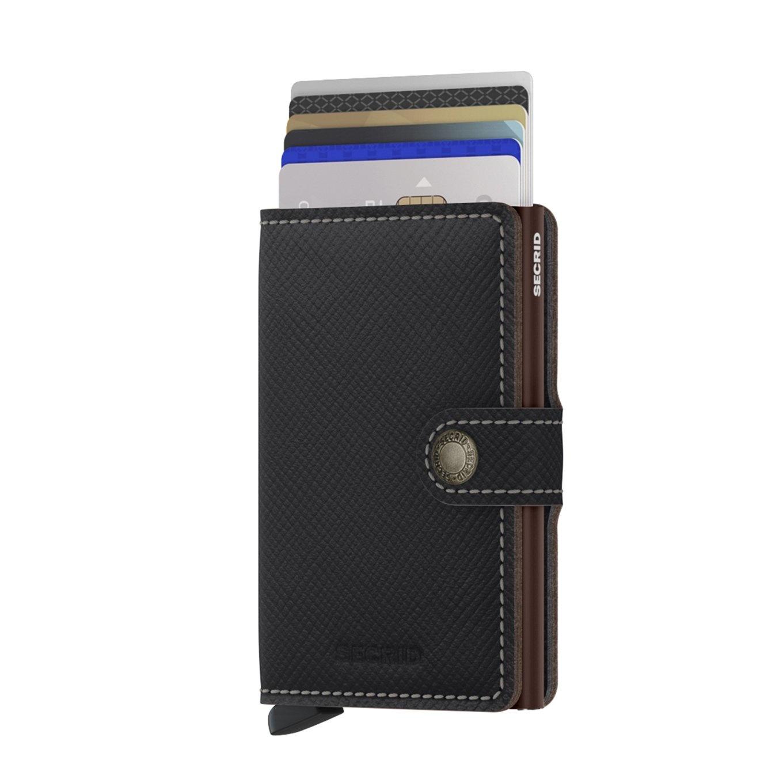 Secrid Secrid Mini Wallet Saffiano Brown - pasjeshouder portemonnee