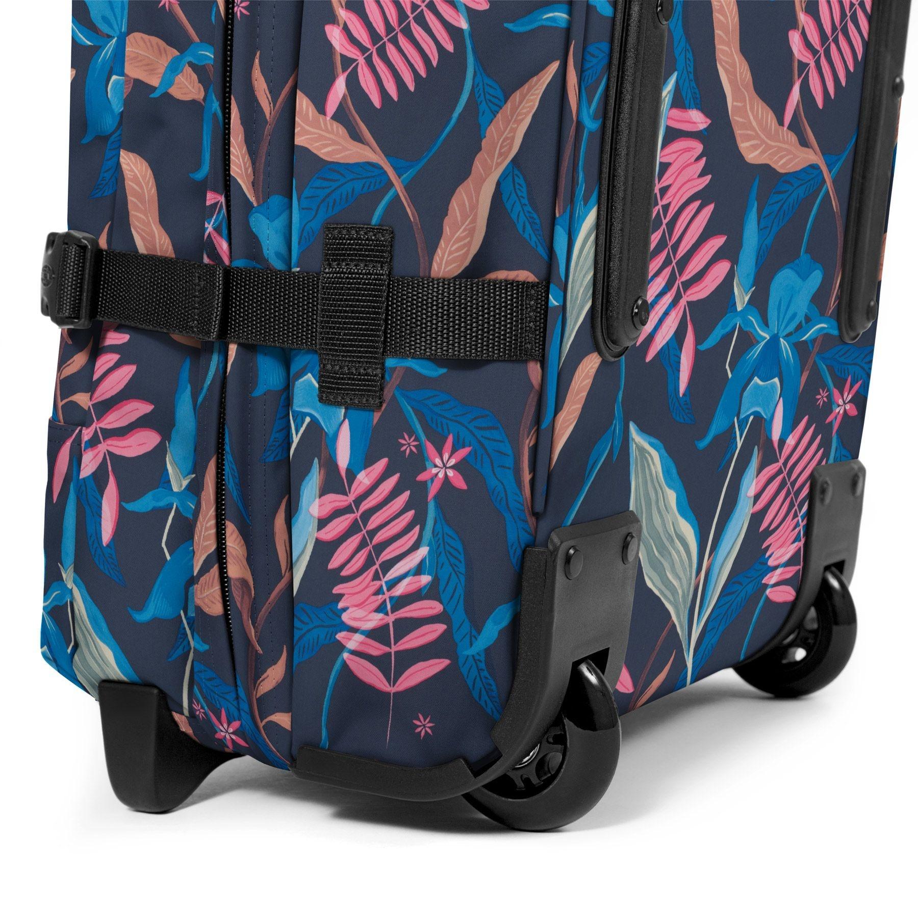 Eastpak Eastpak Tranverz S Whimsy Navy Handbagage reistas met trolley en wieltjes
