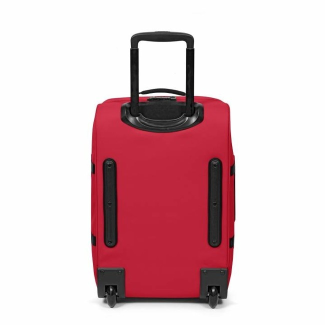 Eastpak Eastpak Tranverz S Stop Red Handbagage reistas met trolley en wieltjes