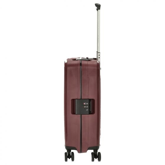 Travelite Terminal Spinner 55 cm handbagagekoffer - Dark Berry - harde koffer zonder rits