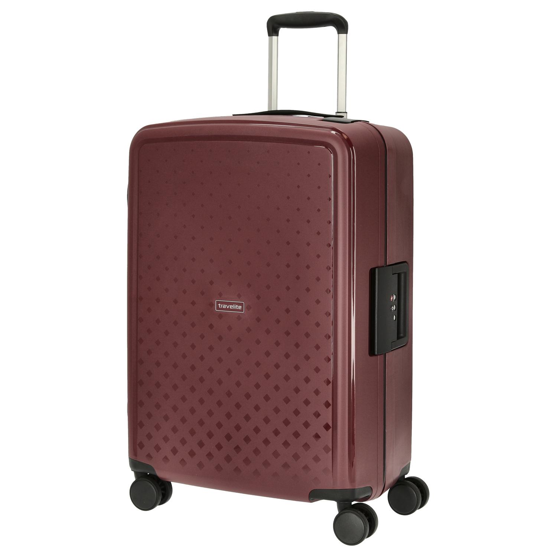 Travelite Terminal Spinner 67 cm middenmaat koffer - Yellow - harde koffer zonder rits