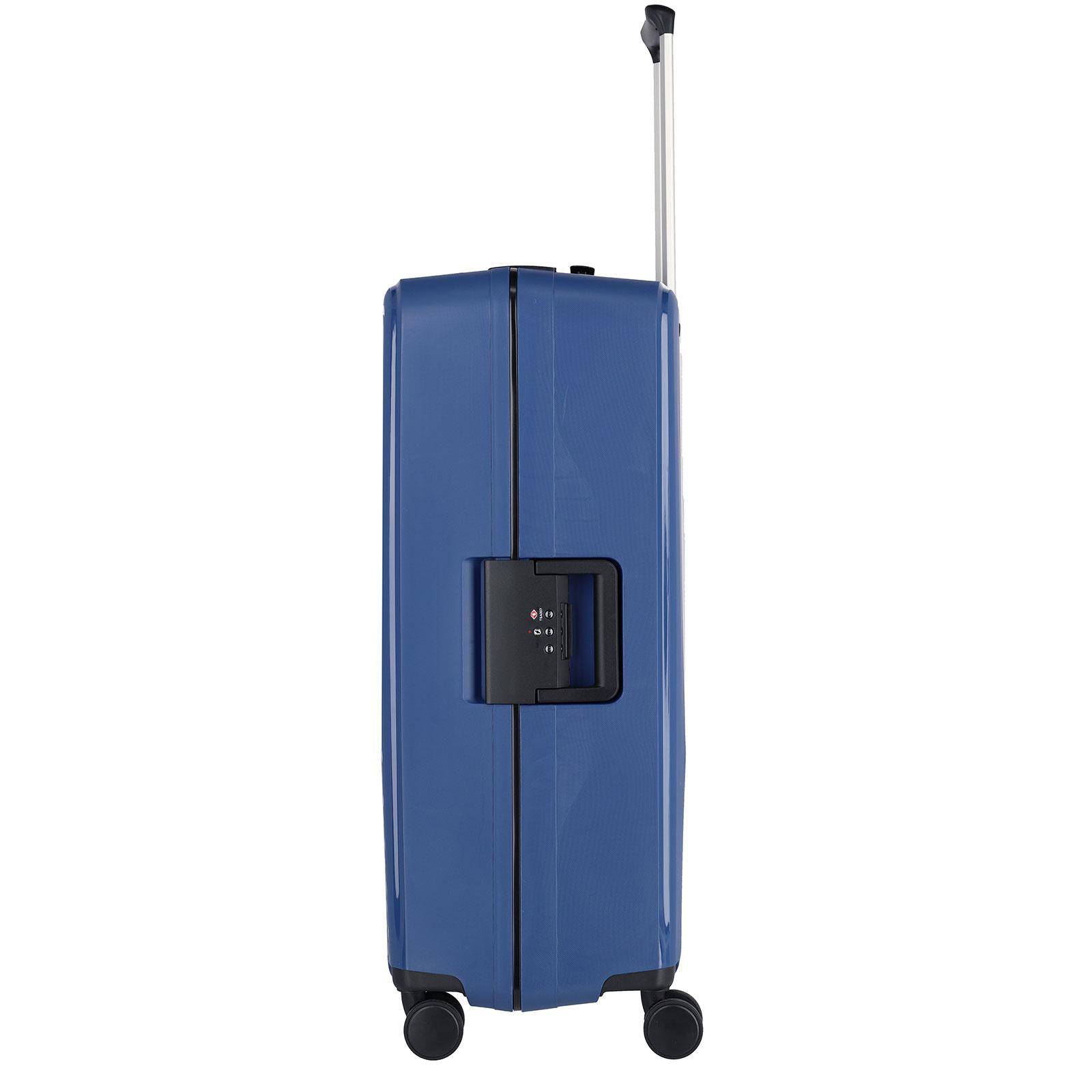 Travelite Terminal Spinner 76 cm grote maat koffer - Navy - harde koffer zonder rits