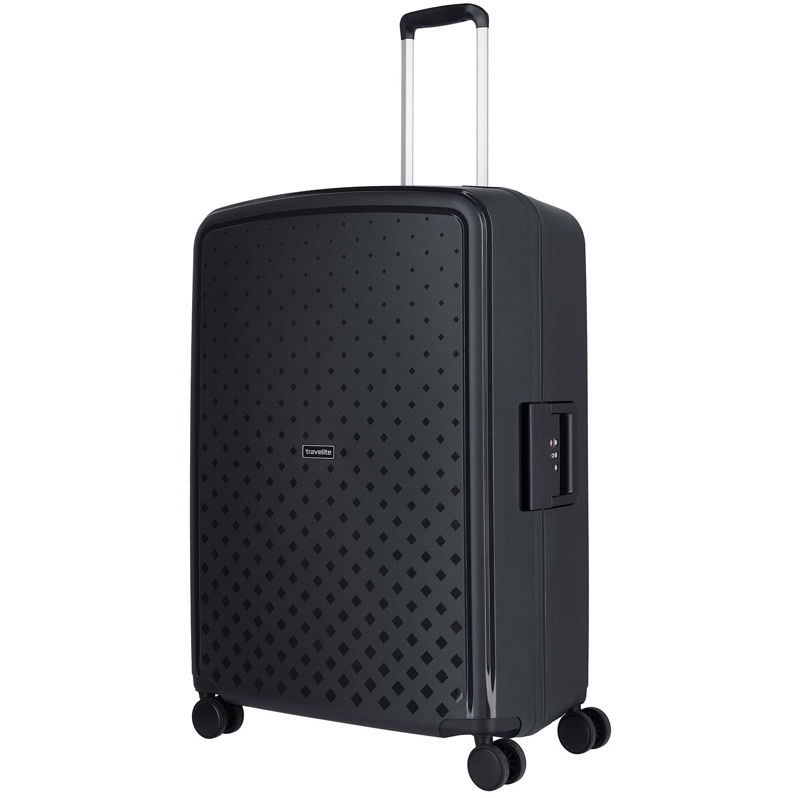 Travelite Terminal Spinner 76 cm grote maat koffer - Black - harde koffer zonder rits