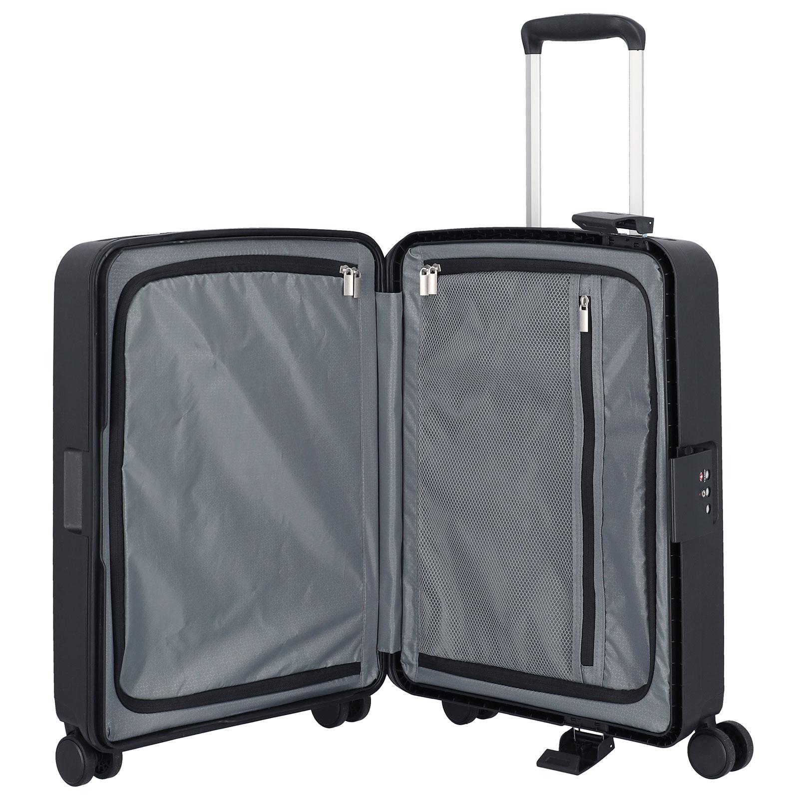 Travelite Terminal Spinner 55 cm handbagagekoffer - Black - harde koffer zonder rits