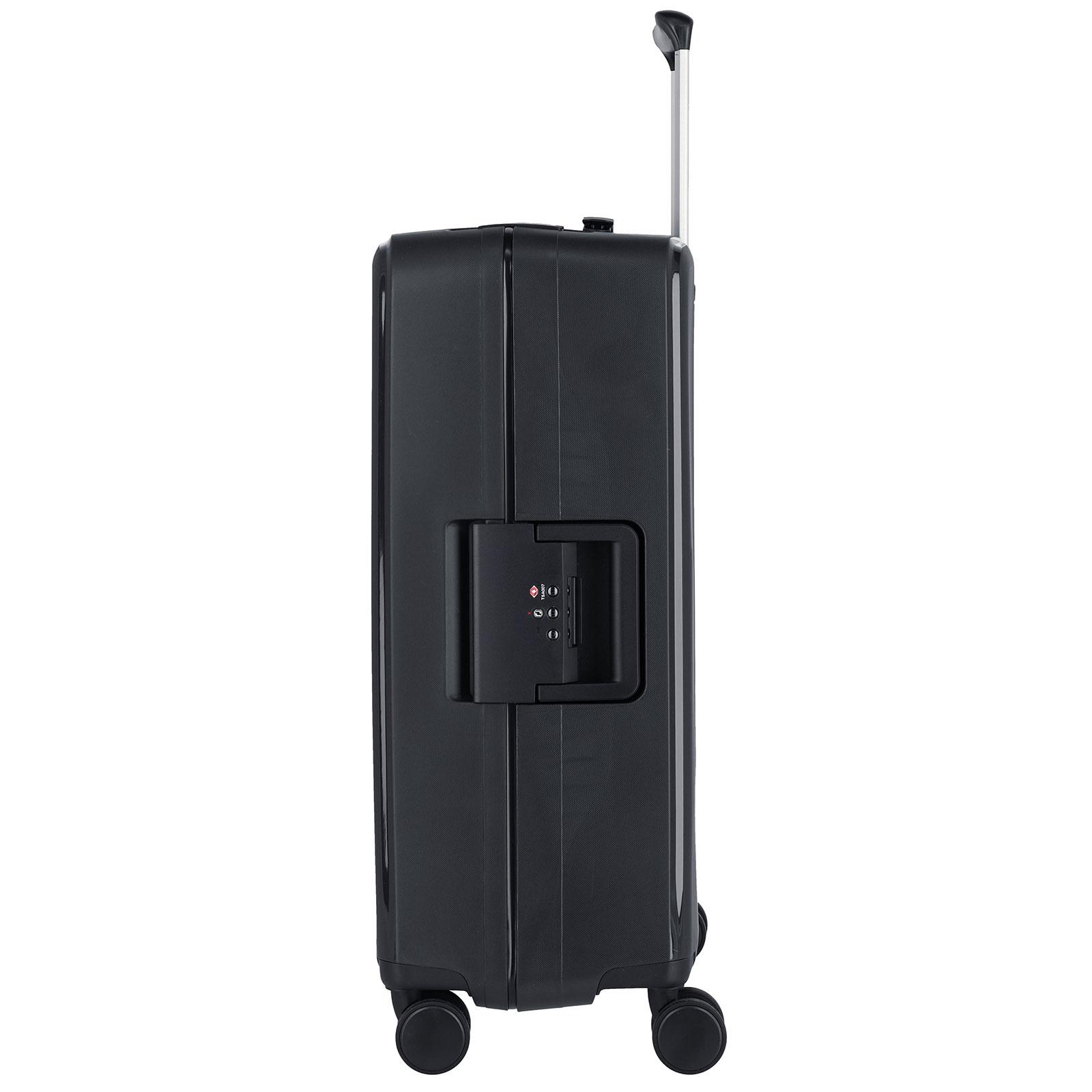 Travelite Terminal Spinner 67 cm middenmaat koffer - Black - harde koffer zonder rits