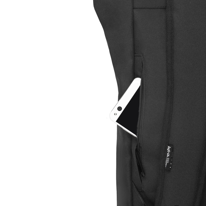 Lefrik Lefrik Roll Top backpack - Eco Friendly - Recycled Materiaal - Black