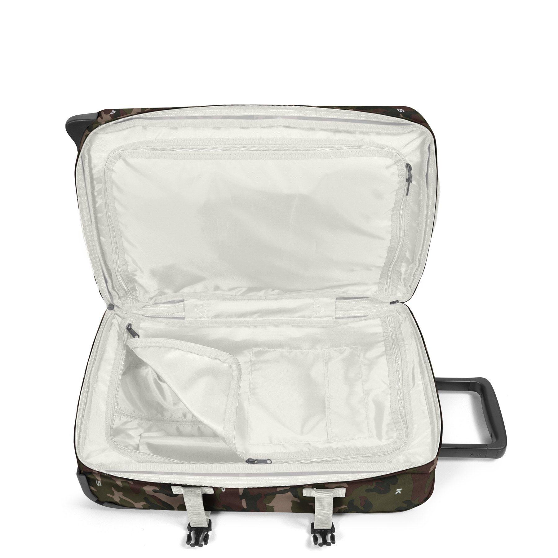 Eastpak Eastpak Tranverz S On Top White Handbagage reistas met trolley en wieltjes