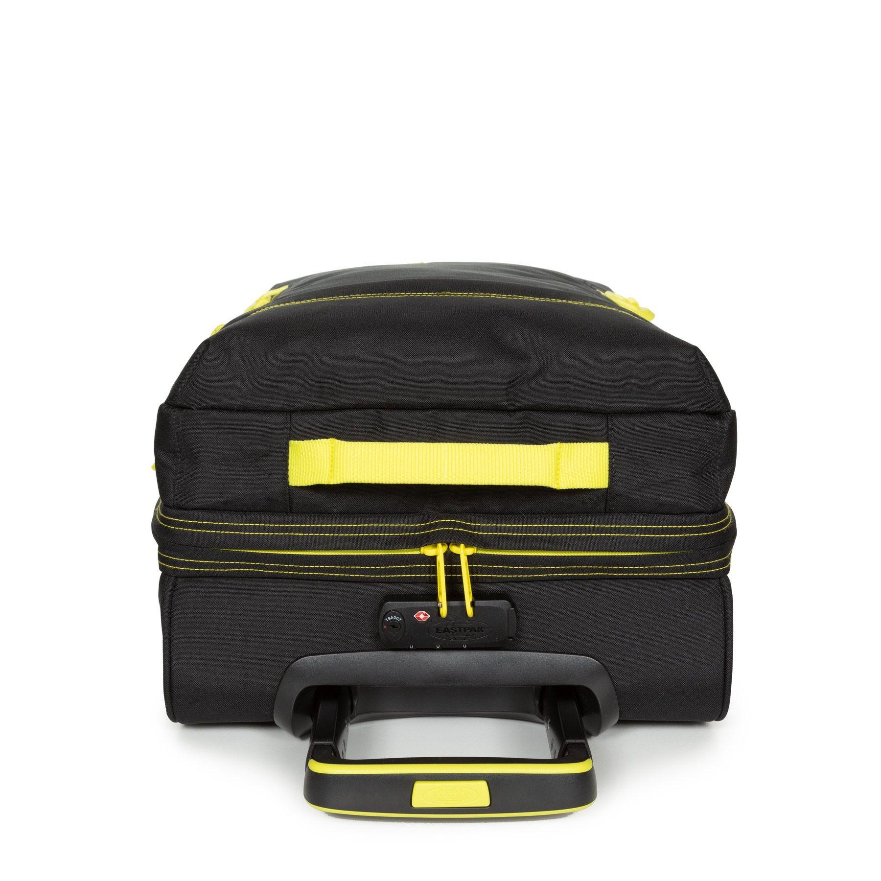 Eastpak Eastpak Tranverz S Kontrast Lime Handbagage reistas met trolley en wieltjes