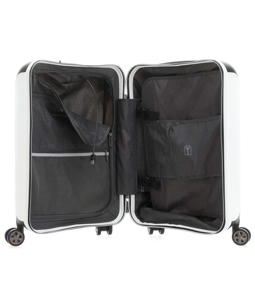 Titan Titan Compax 4 Wheel - Handbagage Trolley S - USB - White