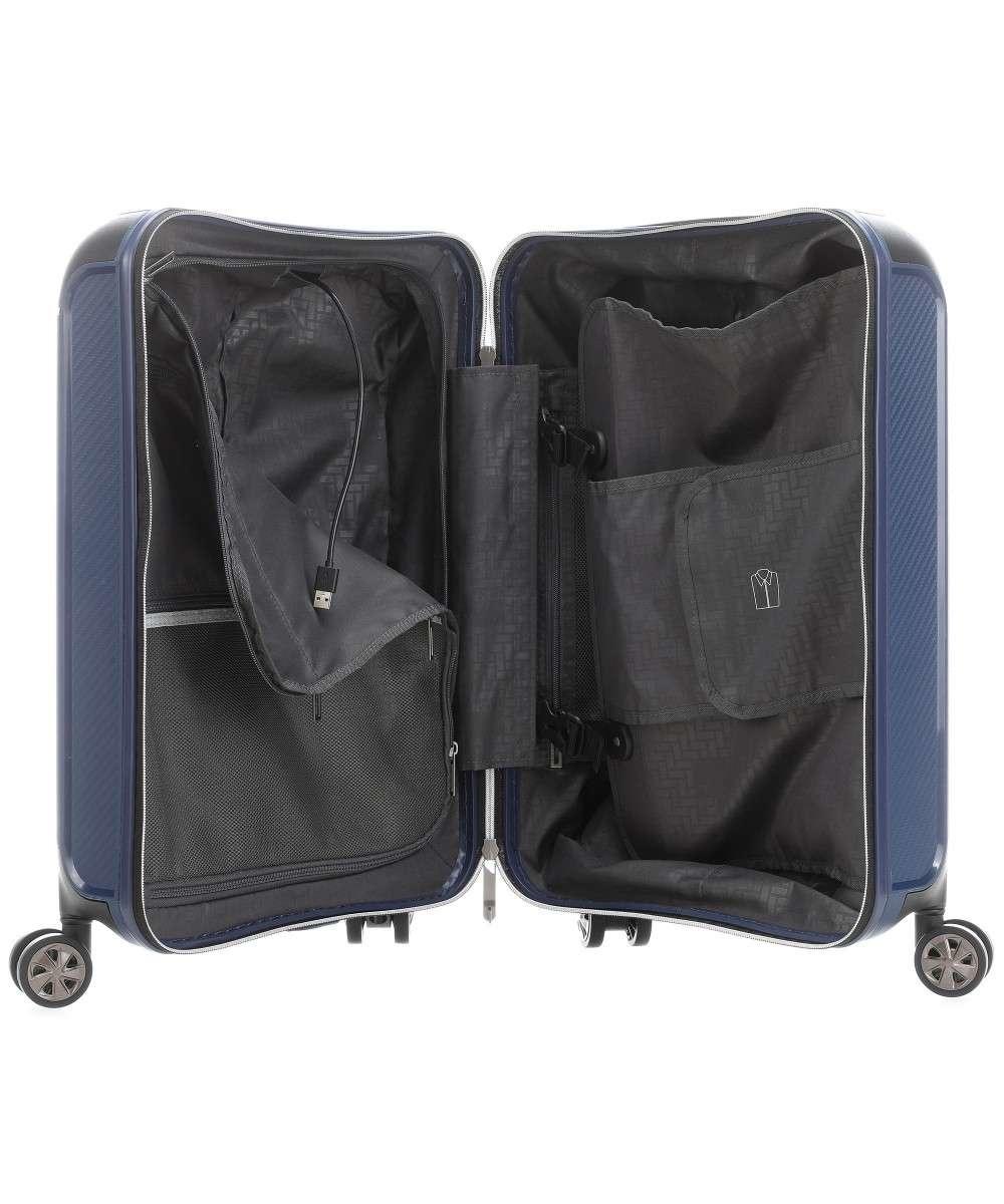 Titan Titan Compax 4 Wheel - Handbagage Trolley S - USB - Navy
