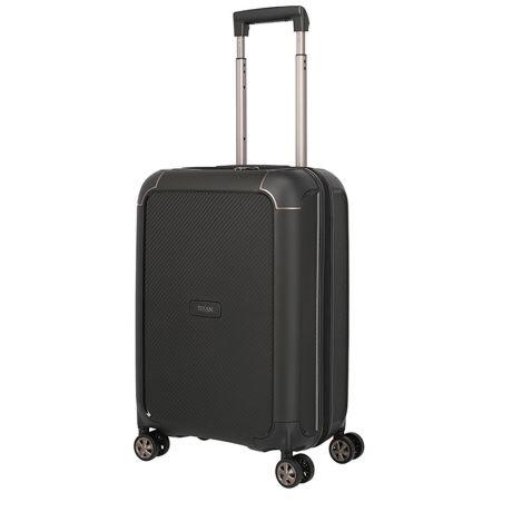 Titan Titan Compax 4 Wheel - Handbagage Trolley S - USB - Black