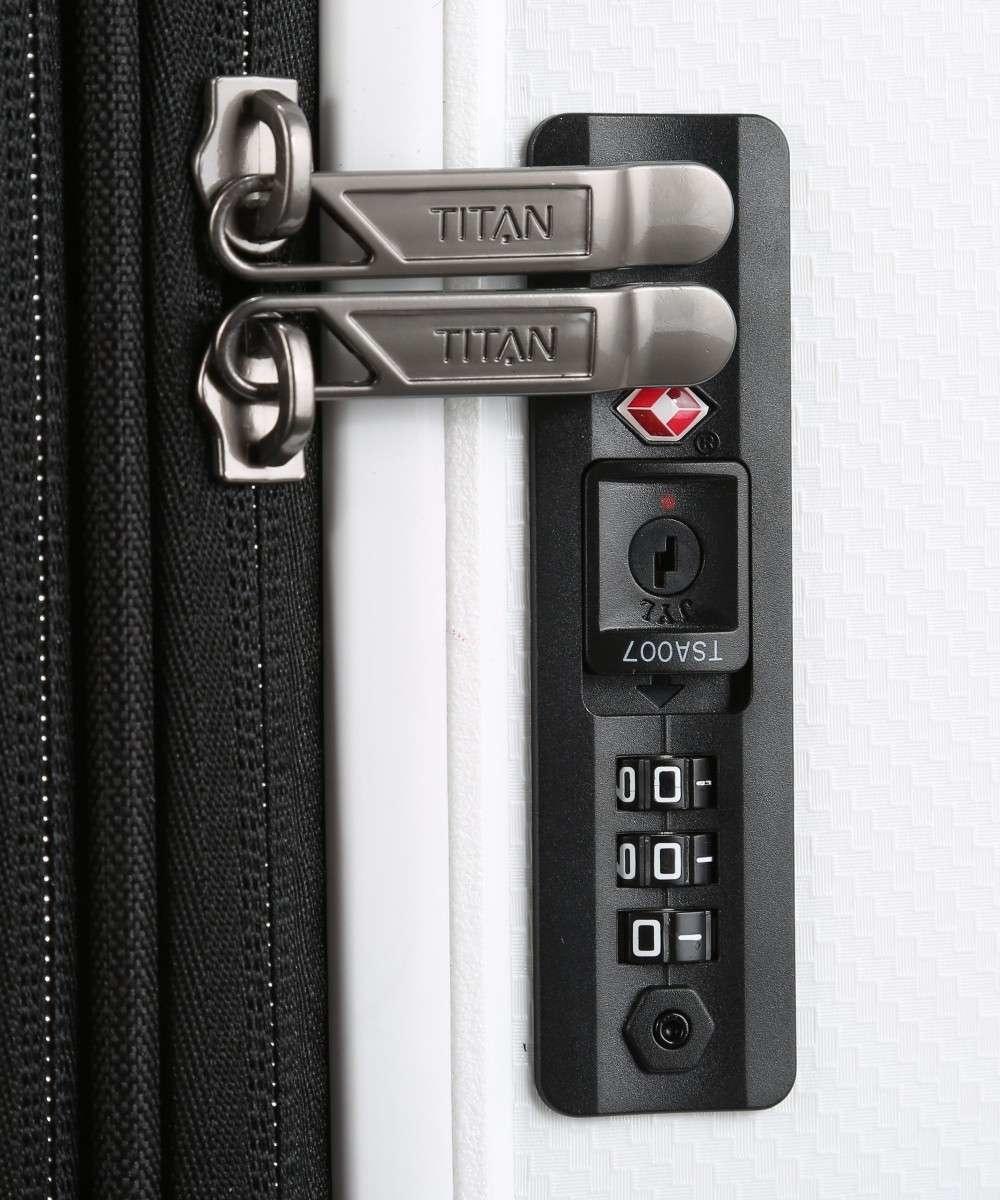 Titan Titan Compax 4 Wiel middenmaat Trolley M Expandable - White