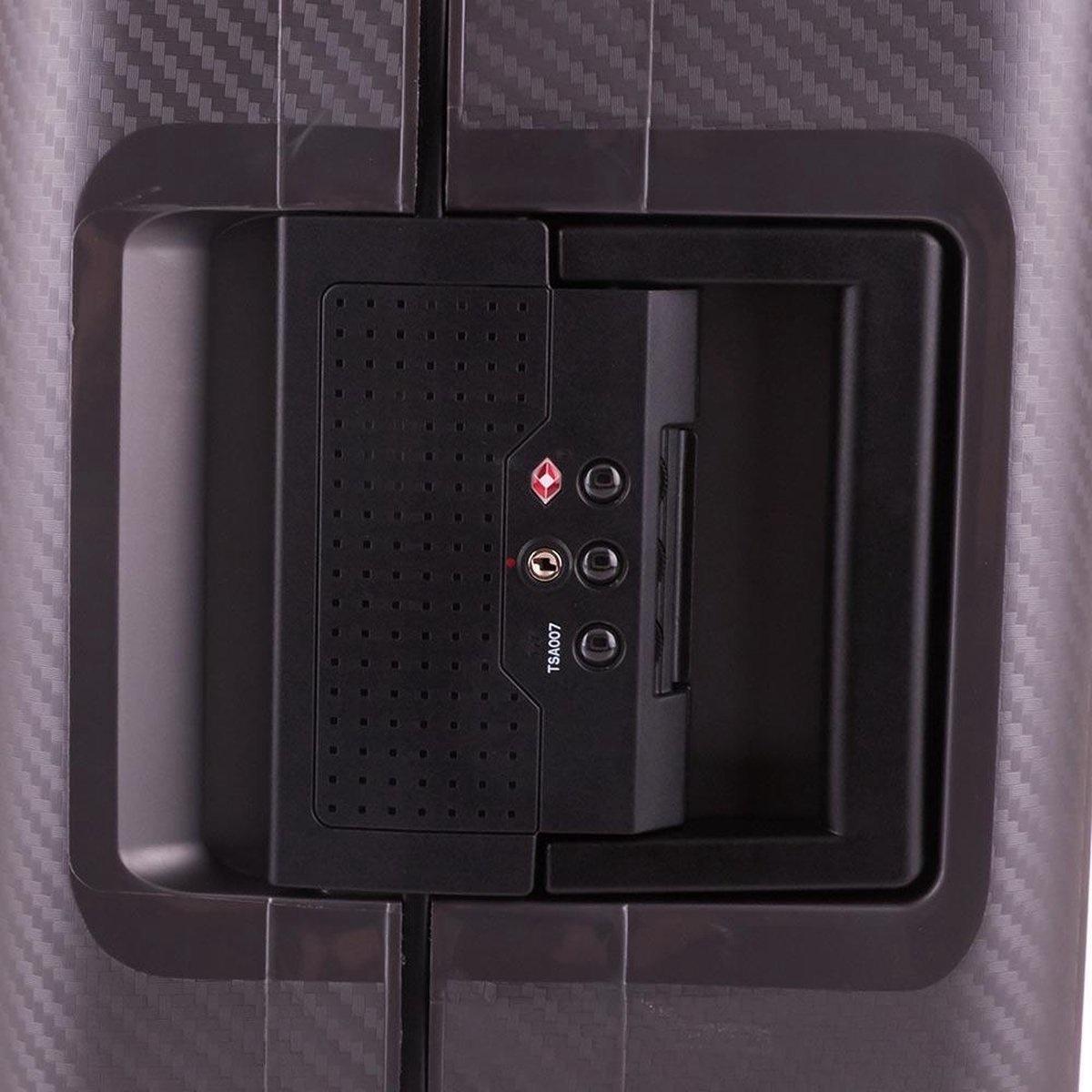 Line Line Hoxton -  reiskoffer - 65 cm - Dark Grey Metallic