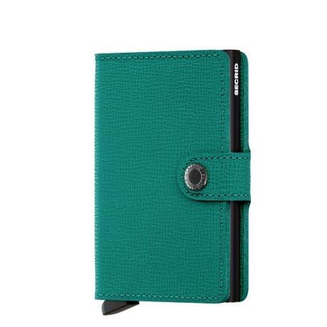 Secrid Secrid Mini Wallet Card Protector Crisple Emerald leren uitschuifbare pasjeshouder