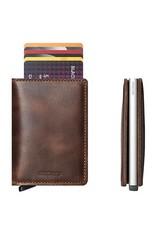 Secrid Secrid Slim Wallet Vintage Bruin leren uitschuifbare pasjeshouder portemonnee