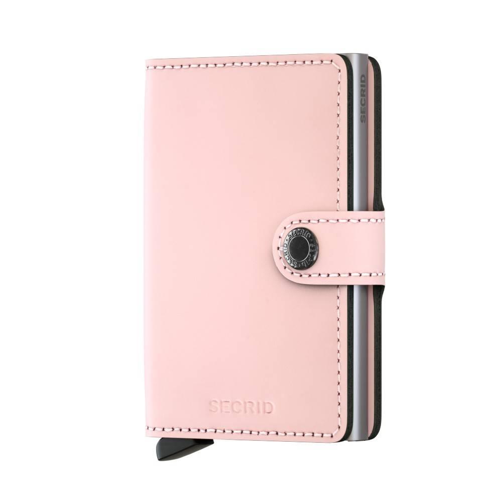 3e6a5ea697b Secrid Mini Wallet Matte Pink leren uitschuifbare pasjeshouder roze