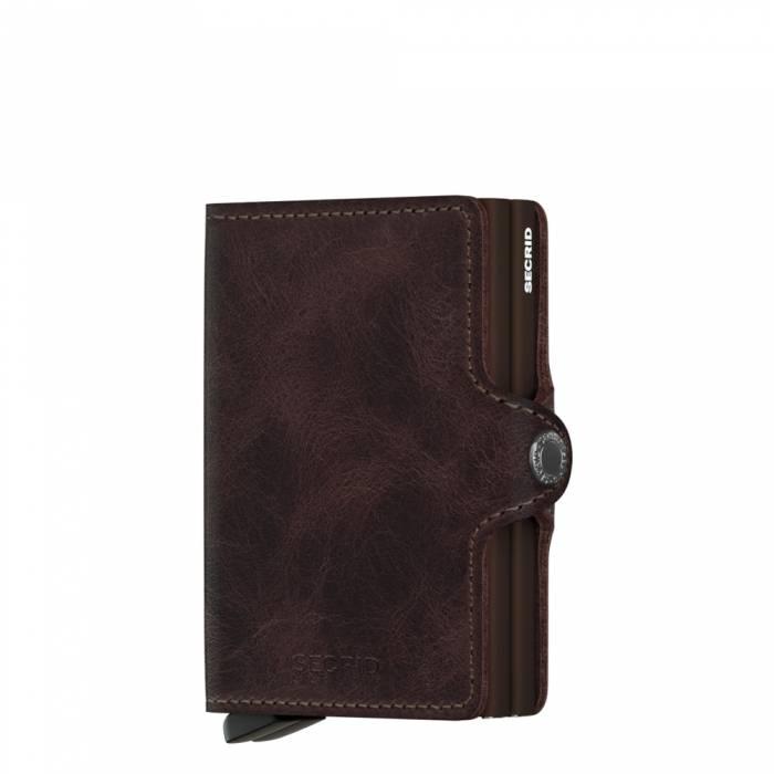 585b5b5eec9 Secrid Twin Wallet Vintage Chocolate leren uitschuifbare pasjes bescherming  portemonnee Card Protector