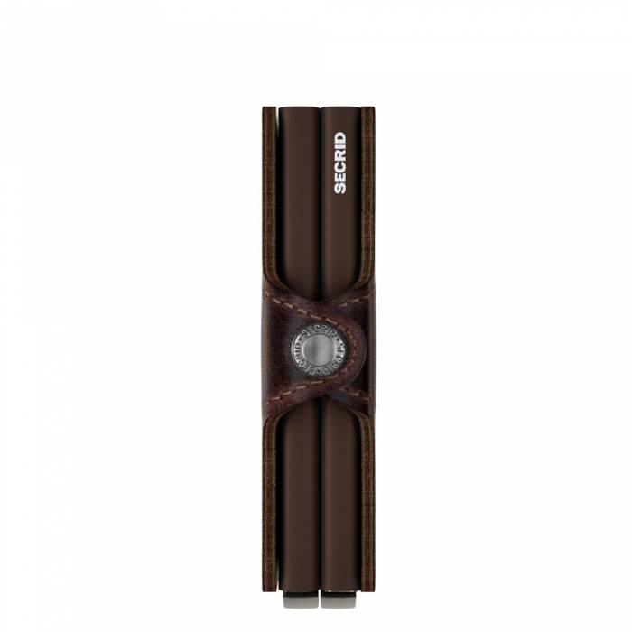 Secrid Secrid Twin Wallet Vintage Chocolate leren uitschuifbare pasjes bescherming portemonnee Card Protector