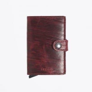 Secrid Secrid Mini Wallet Dutch Martin Bordeaux leren uitschuifbare pasjeshouder