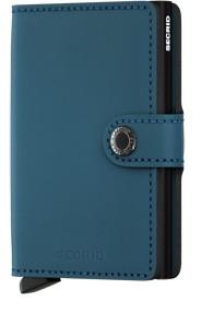 Secrid Secrid Mini Wallet Matte Petrol leren uitschuifbare pasjeshouder