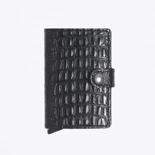 Secrid Secrid Mini Wallet Nile Black leren uitschuifbare pasjeshouder