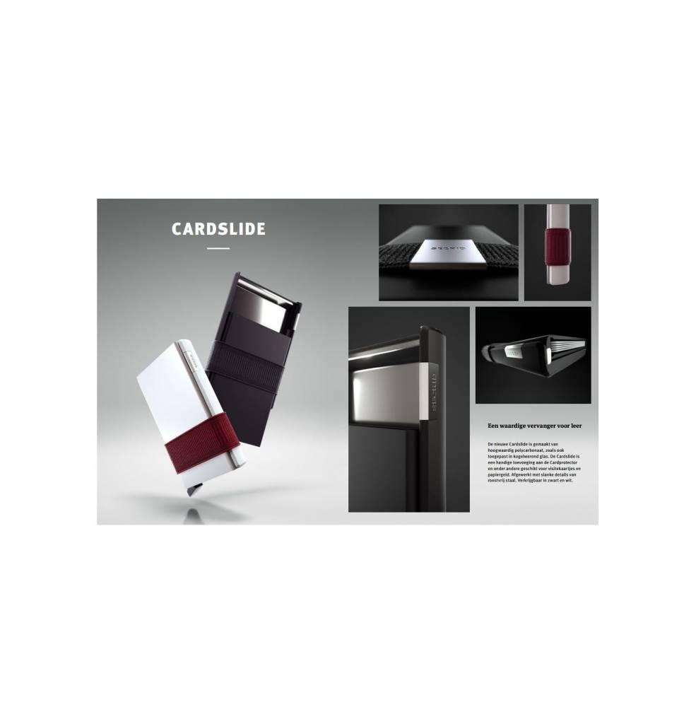 Secrid Secrid Cardslide White / Bordeaux uitschuifbare pasjes bescherming portemonnee nieuwe versie