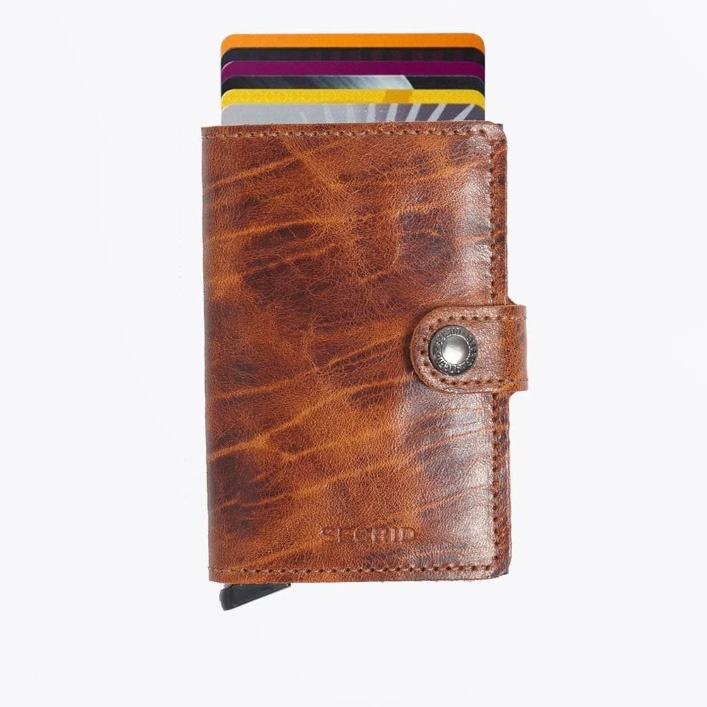 geweldige specials designer mode geweldige aanbiedingen 2017 Secrid Mini Wallet Dutch Martin Whiskey leren uitschuifbare pasjeshouder