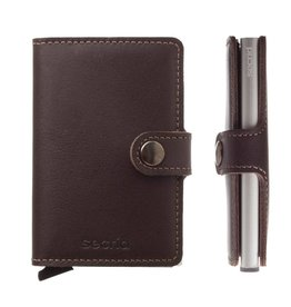 Secrid Secrid Mini Wallet Original Dark Brown pasjeshouder