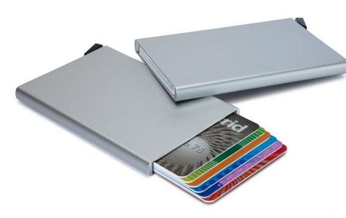 Secrid Secrid Card Protector Silver uitschuifbare pasjes bescherming 6 creditcards