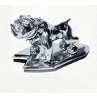 Highway Hawk Angry bulldog Ornament Chrome -  02-091