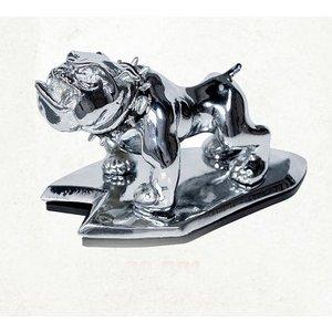 Highway Hawk Angry bulldog Ornament Chrome