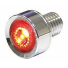 Highway Hawk LED taillight unit chromed dia 18 mm E-mark - 255-016