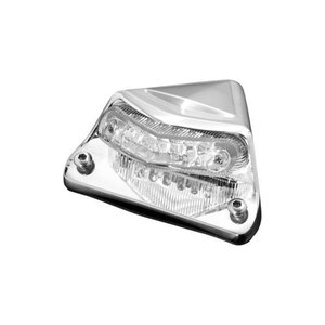 Highway Hawk Taillight Fender Chrome - 68-0155