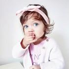 Your Little Miss Baby haarbandje met knoop zachtroze