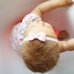 Your Little Miss Roze baby haarbandje met dubbele strik