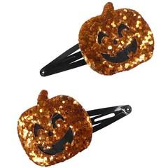 Your Little Miss Halloween haarspeldjes met pompoen