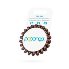 Papanga Papanga spiraal elastiek groot chocolate