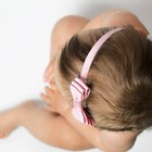 Your Little Miss Oudroze baby haarbandje met dubbele strik