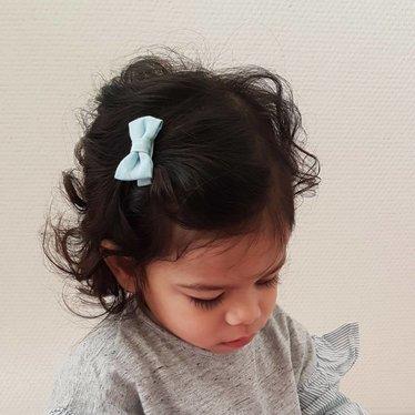 Your Little Miss Baby haarspeldje met lichte denim strik