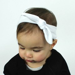 Your Little Miss Baby haarbandje met knoop wit