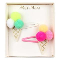 Meri Meri Haarspeldjes met pom pom ijsjes