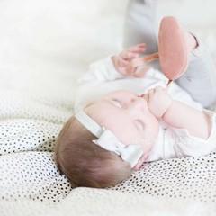 Your Little Miss Grijze baby haarbandje met strik