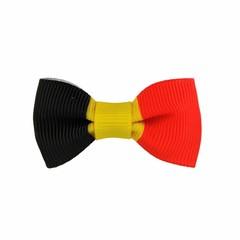 Your Little Miss Baby haarspeldje met strikje - Belgian flag