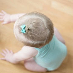 Your Little Miss Mintgroene baby haarspeldjes met strik